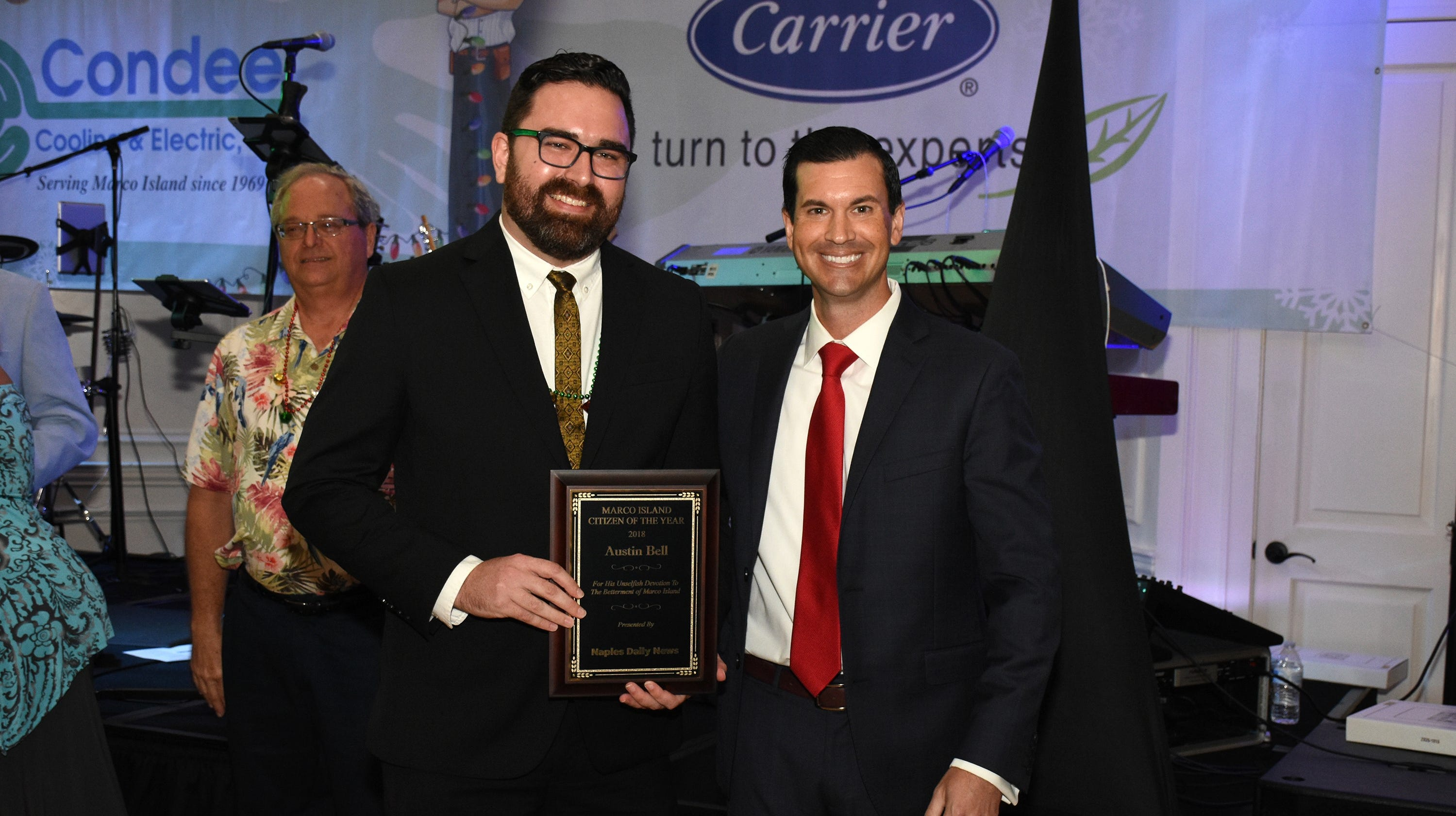 Saturday evening, members of the Marco Island Area Chamber of Commerce met at Hideaway Beach Club, and awarded their two highest honors.