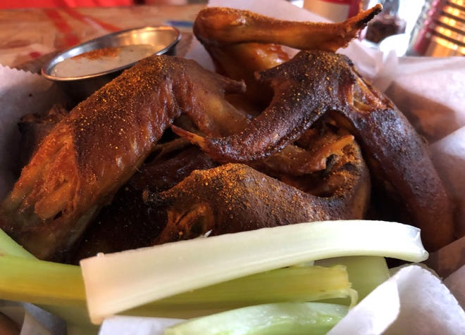 """""""WTC - What the Cluck"""" chicken wings from LowBrow Pizza and Beer in East Naples."""