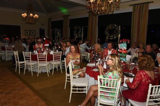 Saturday's Jingle Bell Bash was held at Hideaway Beach Club on Marco Island.