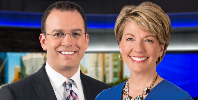 Patrick Paolantonio (left) will co-anchor the 6 p.m. news on WISN-TV (Channel 12) with Joyce Garbaciak.