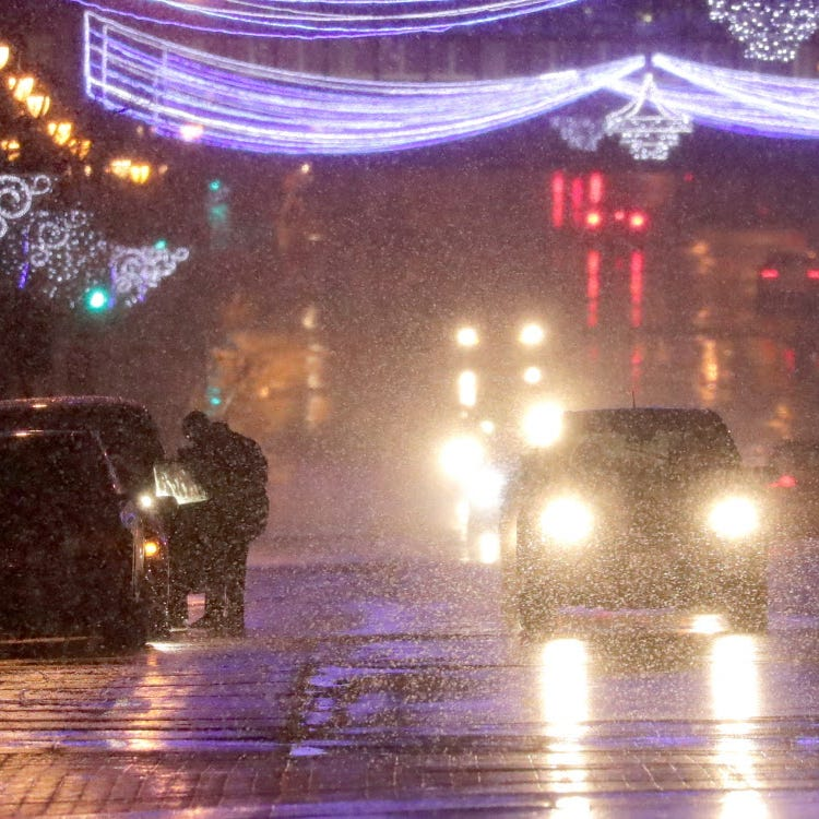 Freezing drizzle in tonight's forecast could make roads slick for morning commuters