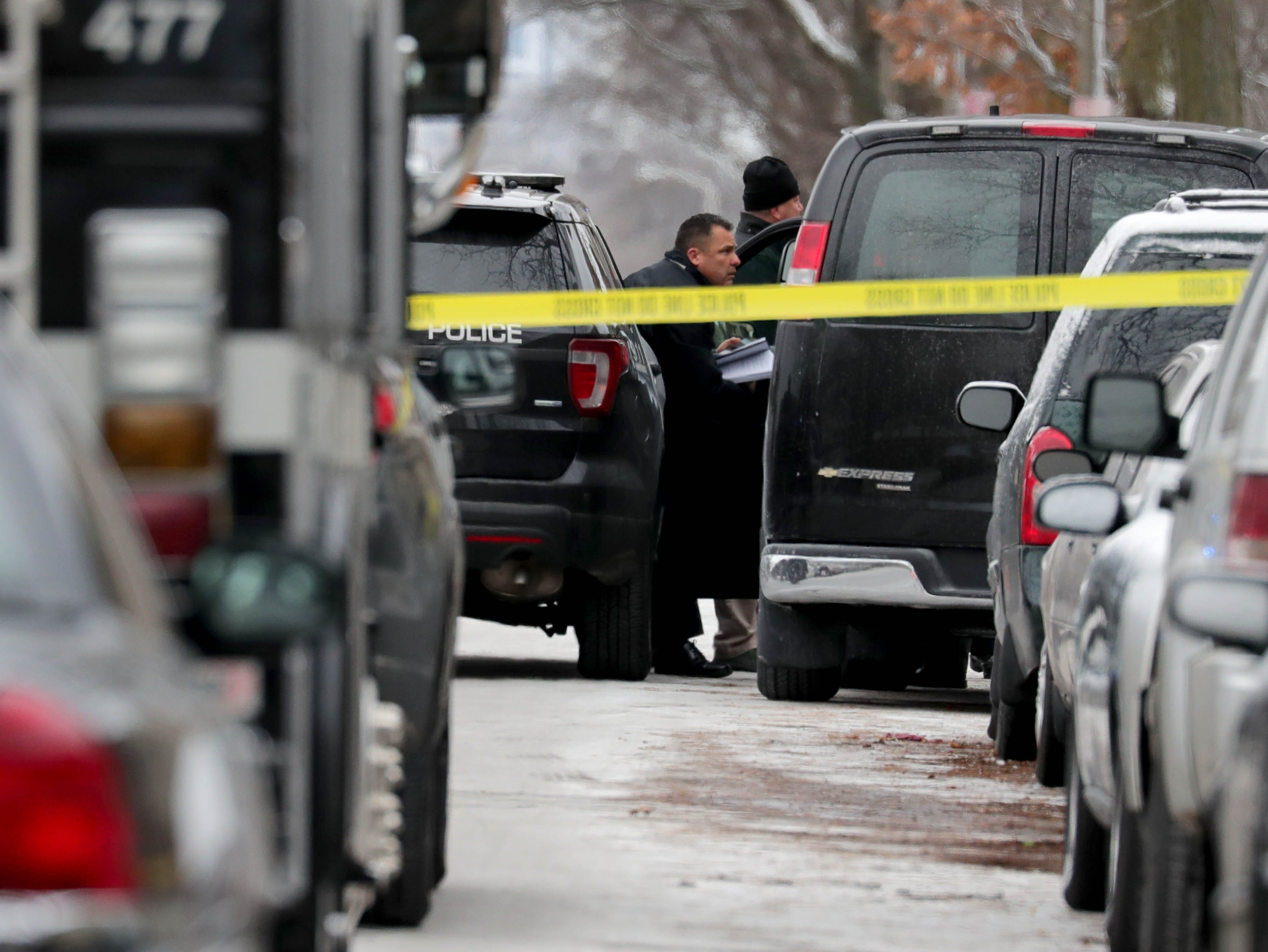 Milwaukee police investigate the scene of what is believed to be an officer-involved shooting.
