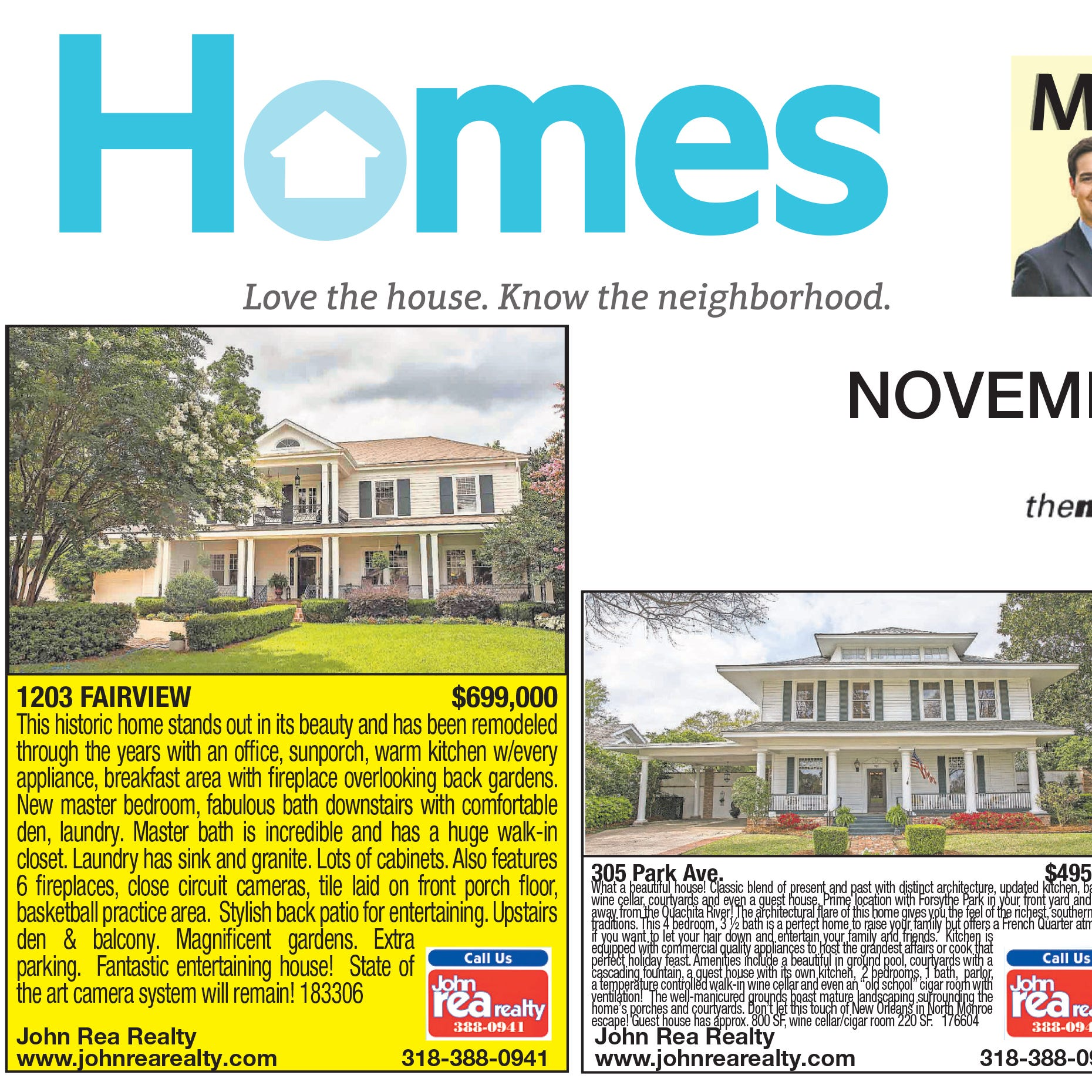 Homefinder: Nov. 25, 2018