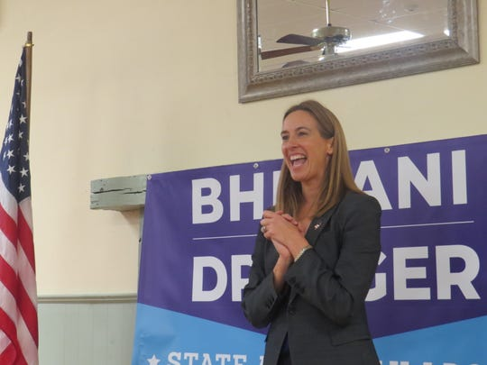 Congresswoman-elect Mikie Sherrill, speaks at the campaign launch event for Darcy Draeger and Dr. Lisa Bhimani and for the Democratic nomination for the 2019 LD 25 Assembly race, at the Brookside Community Center,Mendham Township. Nov. 26, 2018.