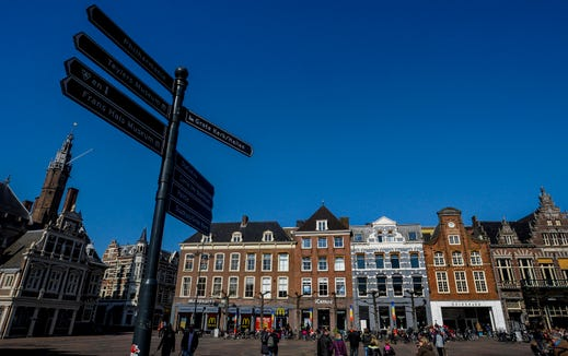The Grote Markt or market square in Haarlem.