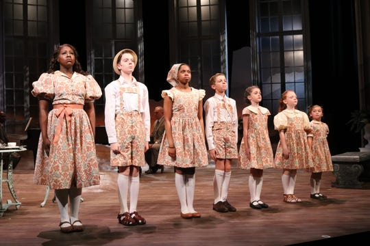"The von Trapp children in ASF's production of ""The Sound of Music."""