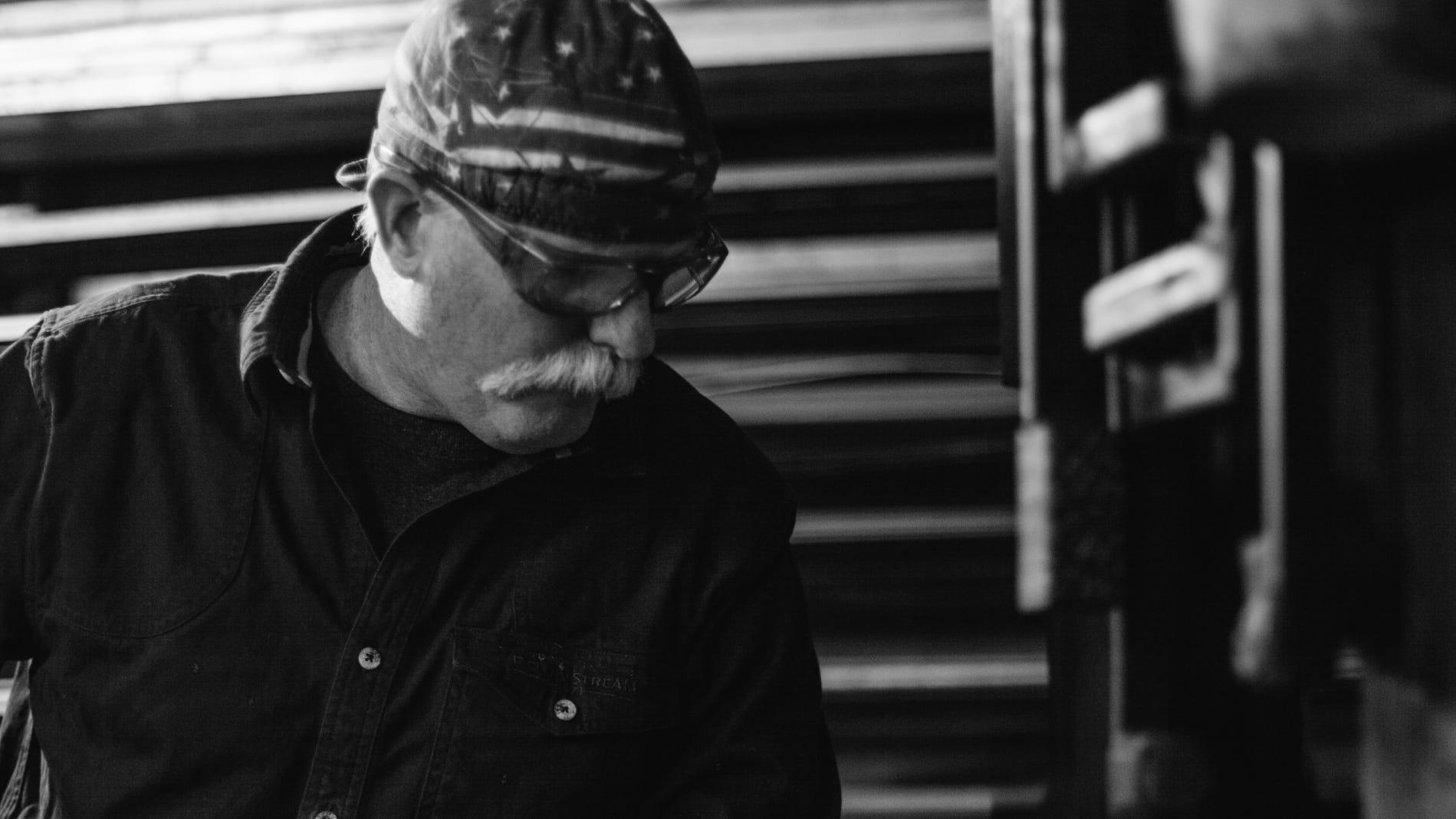 Joe Brown, an Oakland High graduate, is a Navy veteran and local blacksmith.
