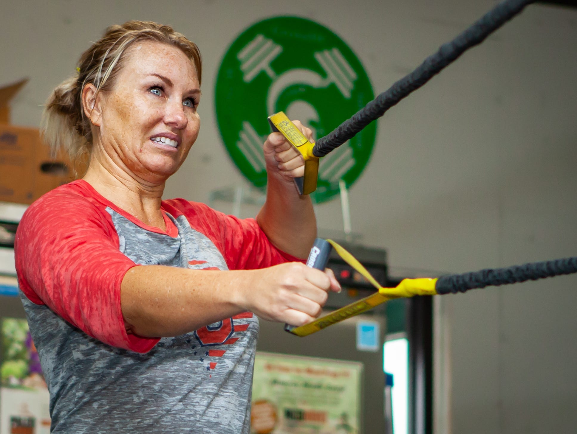 Nikki Baker works out at the CrossFit Barbell Batallion in downtown Murfreesboro. She is one of the Masters athletes (between the age of 40 and 50)