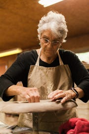 Sue Allen owns and operates Popcorn Studio Pottery with husband Ray.