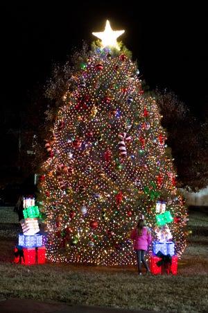 Attendees enjoy the Hendersonville HolidayFest Annual Tree Lighting Ceremony at Memorial Park on Sunday, Nov. 25.