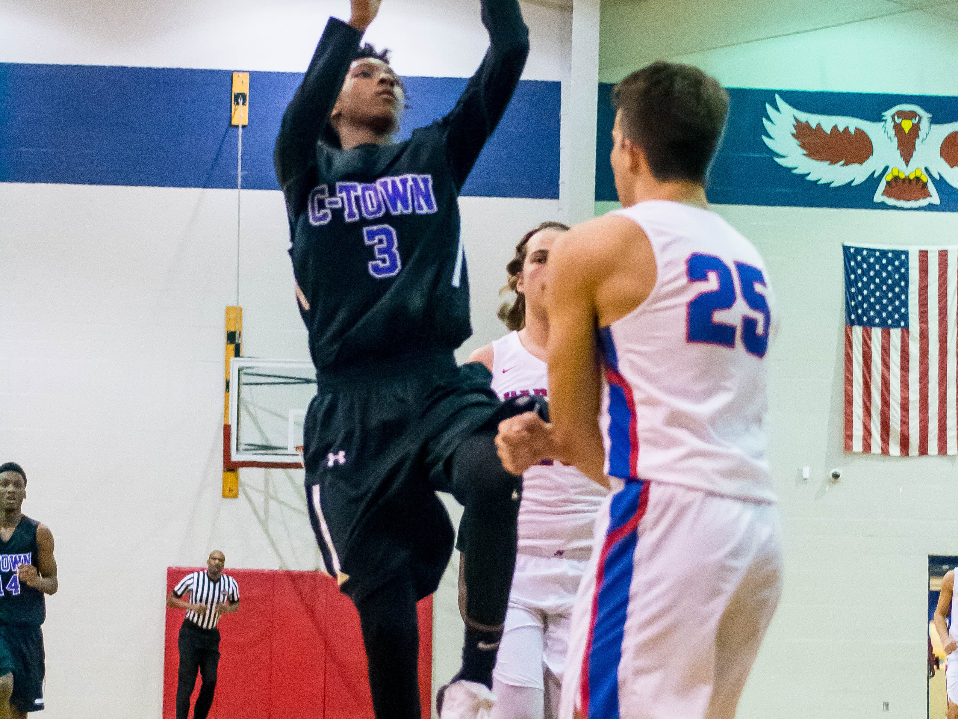 In the Creek Wood Thanksgiving Classic, the Harpeth Indian Men's basketball team was defeated by Columbia Central Lions, 50-46 on Nov. 20, 2018.