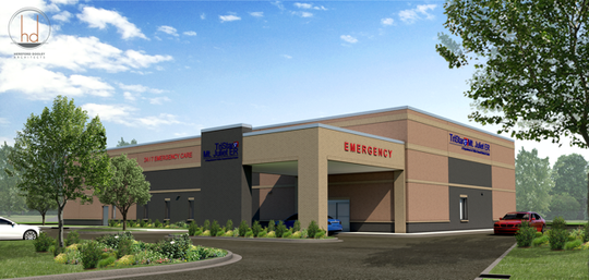 A rendering shows the new TriStar Summit Medical Center Mt. Juliet ER, which is scheduled to open Dec. 3.