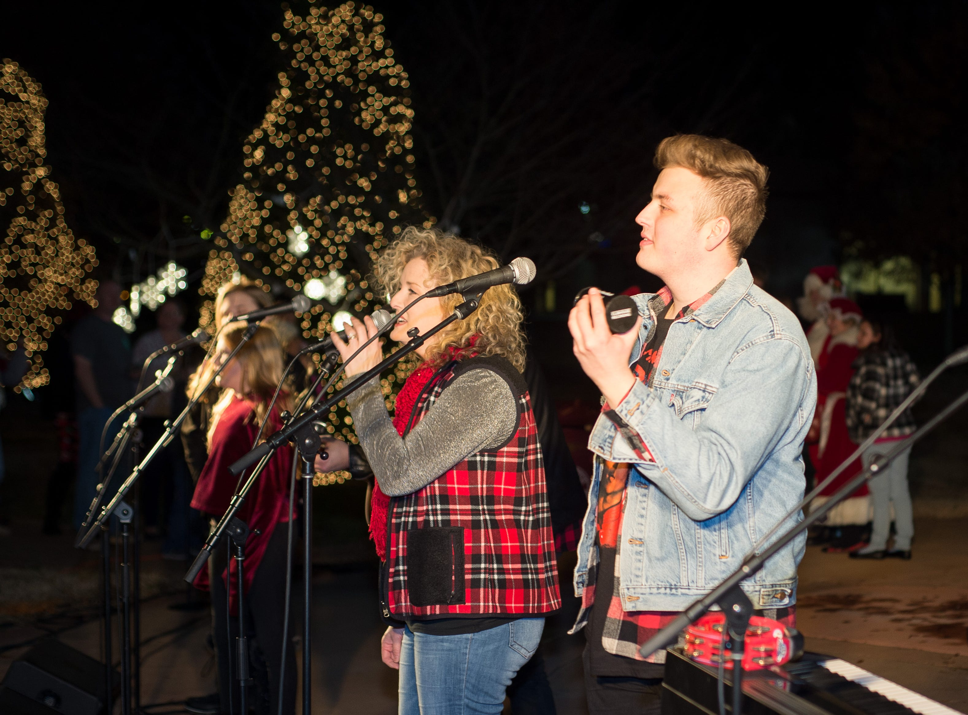 Rockland Road entertains the crowd during the Hendersonville HolidayFest Annual Tree Lighting Ceremony at Memorial Park on Sunday, Nov. 25.