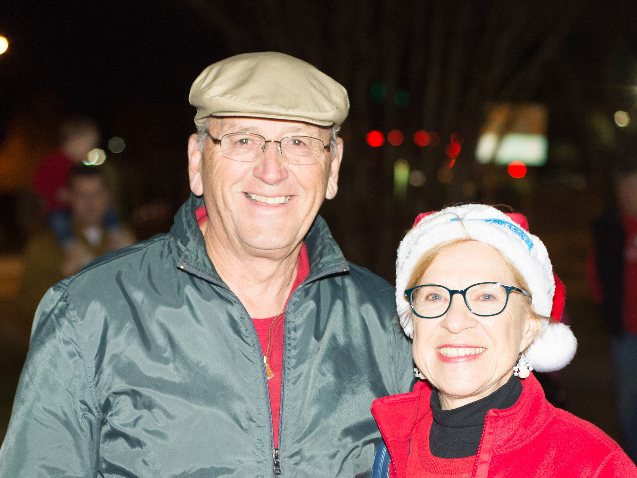 Anthony and Irene Calderon have fun during the Hendersonville HolidayFest Annual Tree Lighting Ceremony at Memorial Park on Sunday, Nov. 25.