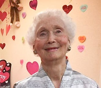Polly Crews, photographed Tuesday, Feb. 14, 2017, at Solaris Healthcare Imperial in North Naples, died Wednesday, Nov. 21, 2018. She was 93. Crews, the oldest Gold Star Mother in Florida, started the Gold Star Mothers chapter in Southwest Florida.