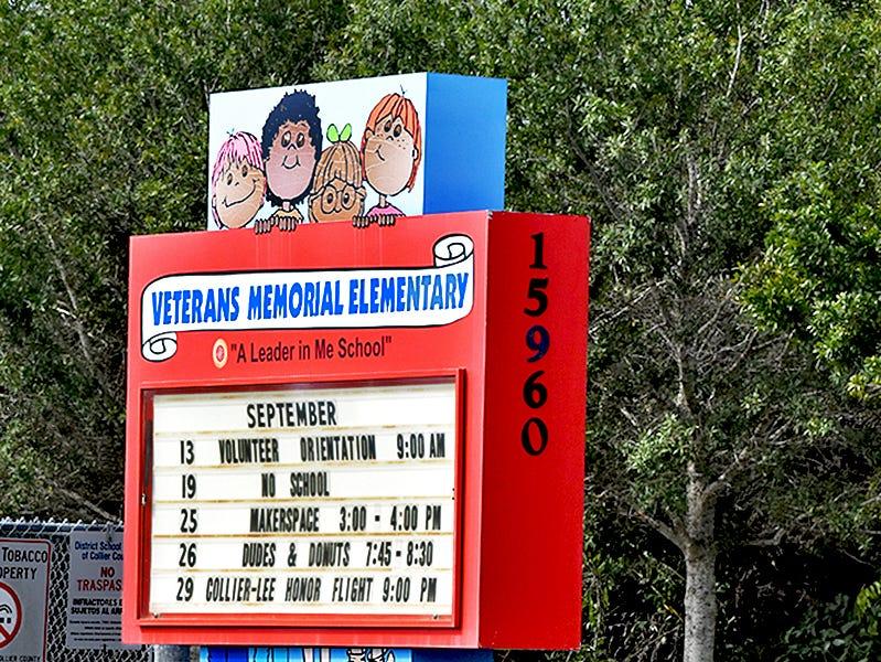 Veterans Memorial Elementary School.