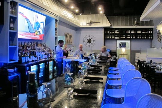 The bar at the new Naples Coastal Kitchen at Gulf Coast Town Center in San Carlos Park.