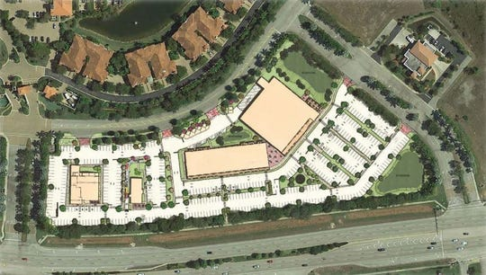 An aerial view of the planned Marketplace at Coconut Point off of U.S. 41 and Sweetwater Ranch Boulevard in Estero.
