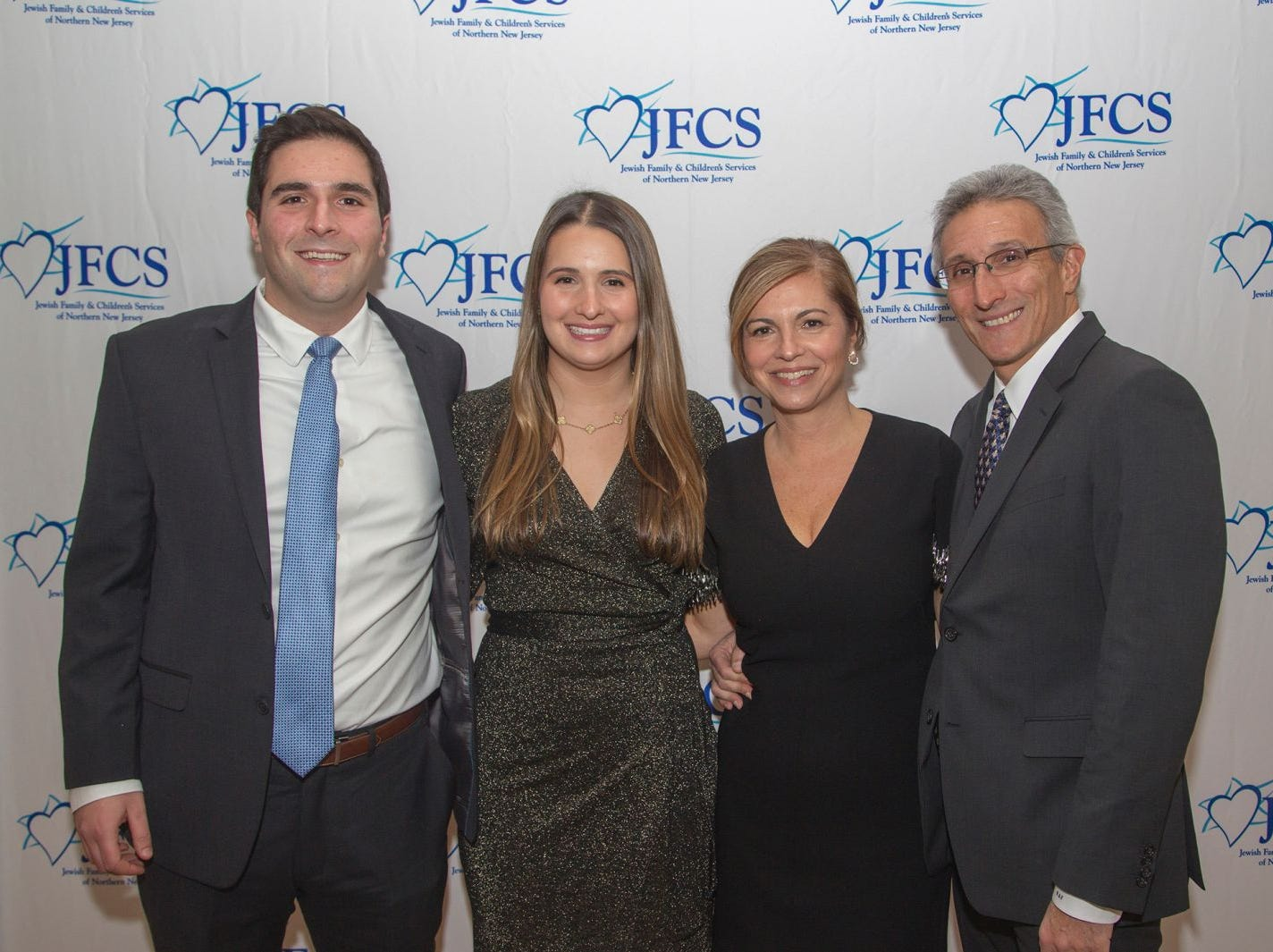 David Feverstein, Karen Feverstein, Shira Feverstein, Robert Feverstein. Jewish Family & Children's Services of Northern New Jersey held its annual gala at the Edgewood Country Club in River Vale. The evening honored Shira Feuerstein, Jayne Petak, and Alan Scharfstein for their leadership, support, and dedication. 11/18/2018