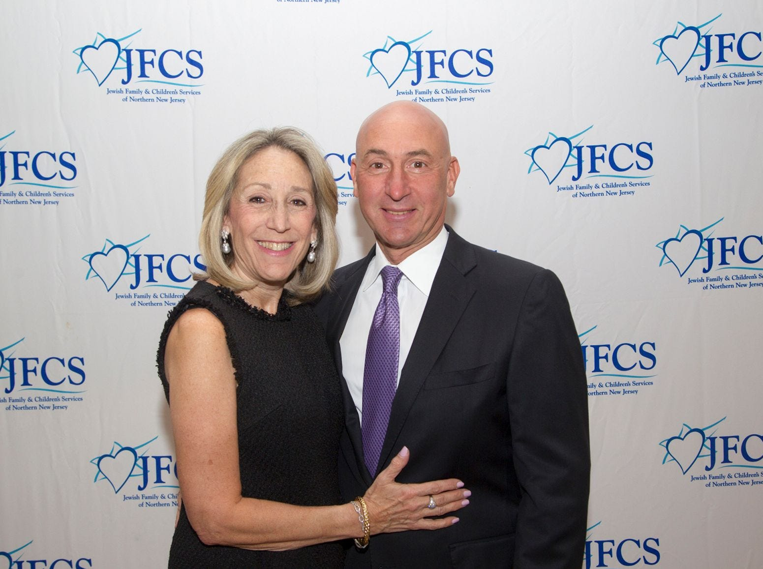 Stacey and Neil Weiss. Jewish Family & Children's Services of Northern New Jersey held its annual gala at the Edgewood Country Club in River Vale. The evening honored Shira Feuerstein, Jayne Petak, and Alan Scharfstein for their leadership, support, and dedication. 11/18/2018