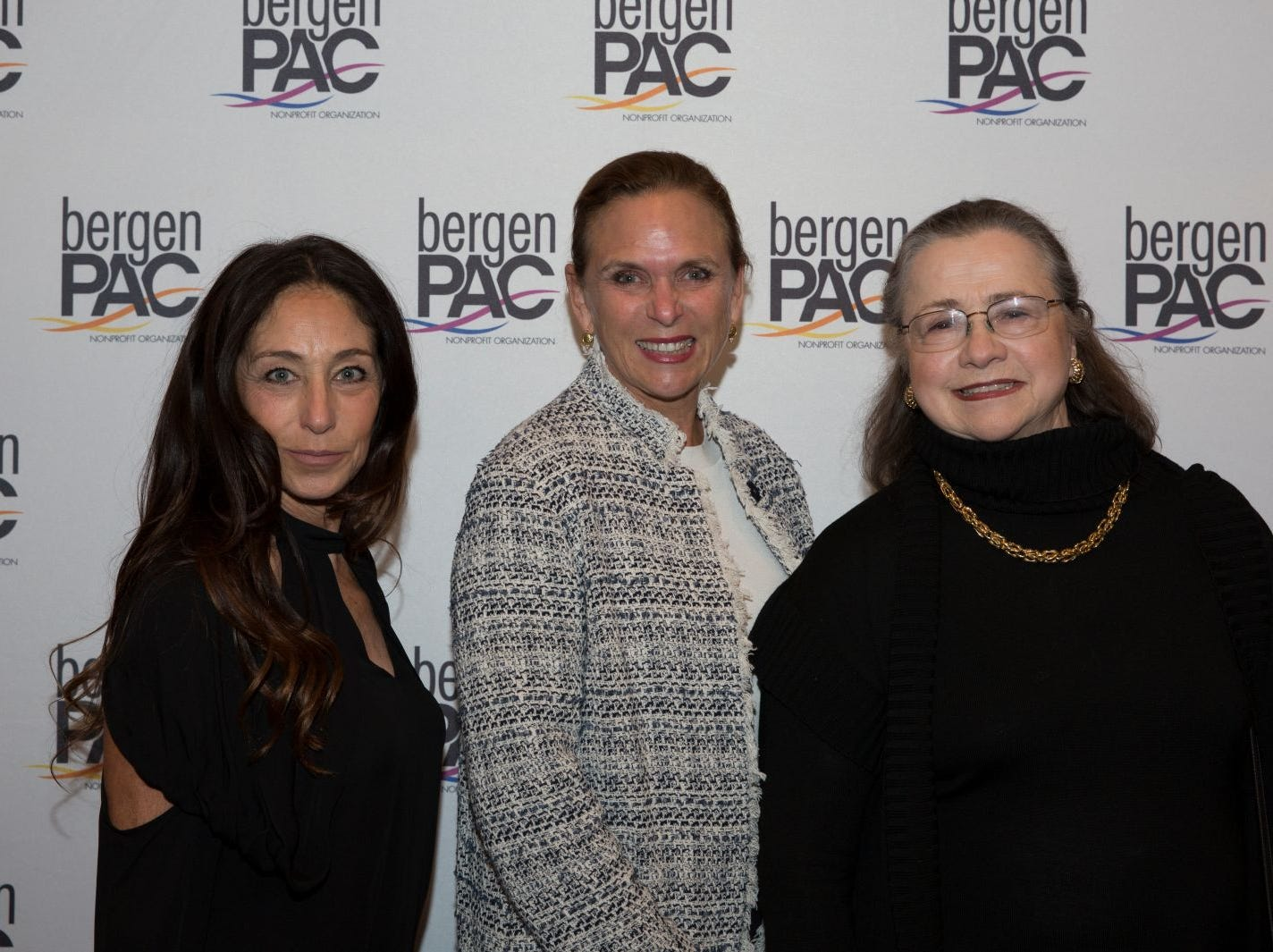Roberta Mathes, Shannon Eadon, Rosalie Berlin. BergenPAC held its annual fall gala featuring John Fogerty in Englewood. This year's honoree was Fernando Garip, from Wilmington Trust and M&T Bank. 11/08/2018