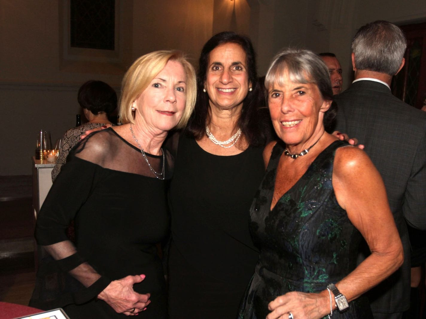 Jane Crotty; Joyce Kwiatowski (Associate Director); Joy Vottero (Executive Director). Wyckoff Family YMCA hosted its 75th anniversary gala to celebrate its benefactors, held at the Rio Vista seminary in Mahwah. 11/16/2018