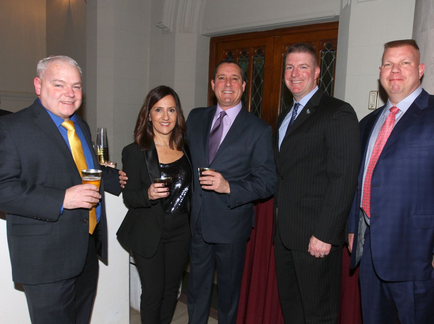 John Encke; Jordana Parker; Lee Parker; Dave Murphy; Tim Brock. Wyckoff Family YMCA hosted its 75th anniversary gala to celebrate its benefactors, held at the Rio Vista seminary in Mahwah. 11/16/2018