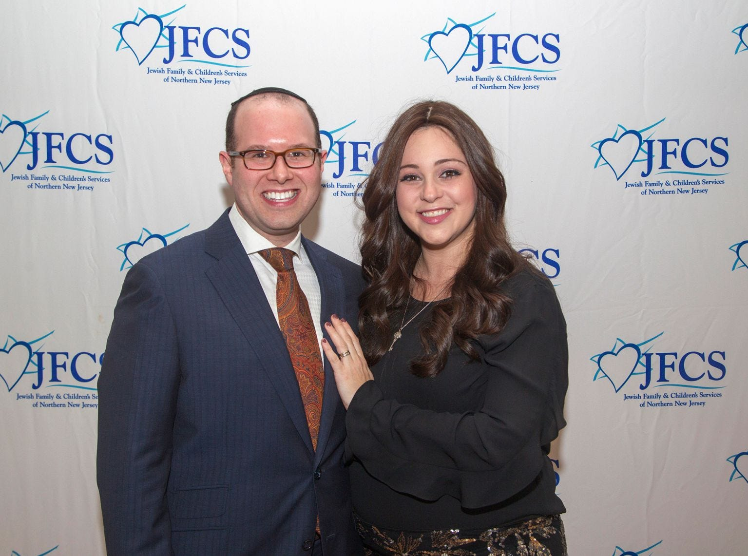 Penny and Yoel Samuel. Jewish Family & Children's Services of Northern New Jersey held its annual gala at the Edgewood Country Club in River Vale. The evening honored Shira Feuerstein, Jayne Petak, and Alan Scharfstein for their leadership, support, and dedication. 11/18/2018