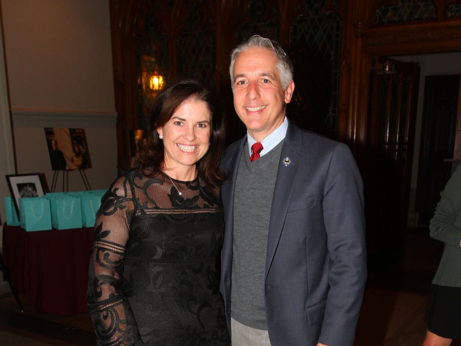 Patricia DePhillips; Assemblyman Christopher DePhillips. Wyckoff Family YMCA hosted its 75th anniversary gala to celebrate its benefactors, held at the Rio Vista seminary in Mahwah. 11/16/2018