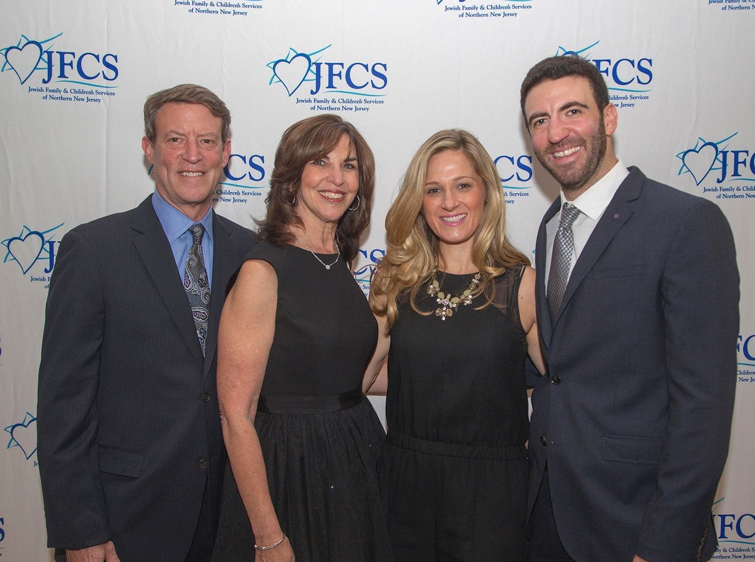 David Petak, Jayne Petak, Nikki Hayes, Derek Petak. Jewish Family & Children's Services of Northern New Jersey held its annual gala at the Edgewood Country Club in River Vale. The evening honored Shira Feuerstein, Jayne Petak, and Alan Scharfstein for their leadership, support, and dedication. 11/18/2018