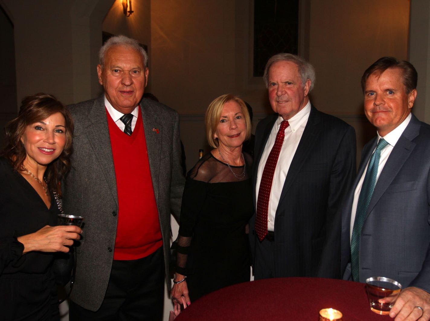Michele O'Shea; Nick Ciampo; Jane Ciampo; Frank Crotty; Rob O'Shea. Wyckoff Family YMCA hosted its 75th anniversary gala to celebrate its benefactors, held at the Rio Vista seminary in Mahwah. 11/16/2018
