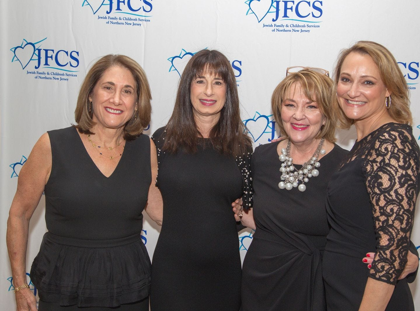 Sue Ann Levin, Suzette Diamond, Susan Greenbaum, Debbie Harris. Jewish Family & Children's Services of Northern New Jersey held its annual gala at the Edgewood Country Club in River Vale. The evening honored Shira Feuerstein, Jayne Petak, and Alan Scharfstein for their leadership, support, and dedication. 11/18/2018