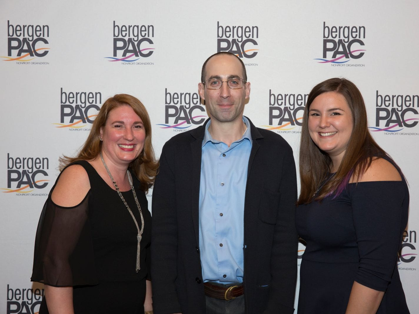 Diane Niedzialek, Sam Passow, Tori Greig. BergenPAC held its annual fall gala featuring John Fogerty in Englewood. This year's honoree was Fernando Garip, from Wilmington Trust and M&T Bank. 11/08/2018
