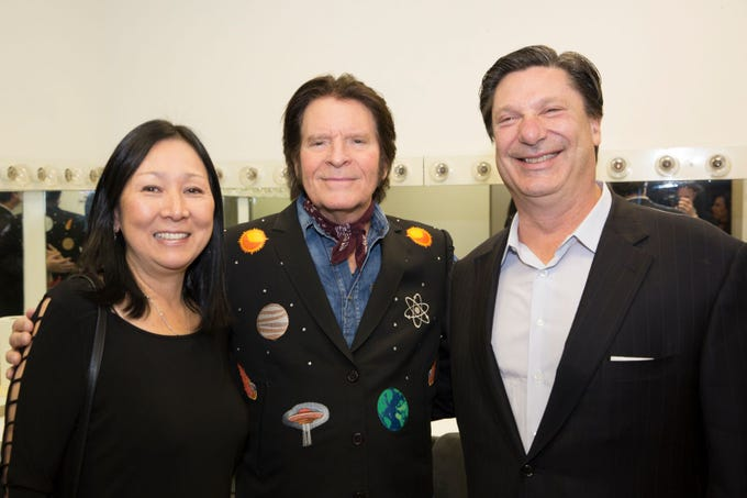 Miyako Schwartz, John Fogerty, Edmondo Schwartz. BergenPAC held its annual fall gala featuring John Fogerty in Englewood. This year's honoree was Fernando Garip, from Wilmington Trust and M&T Bank. 11/08/2018