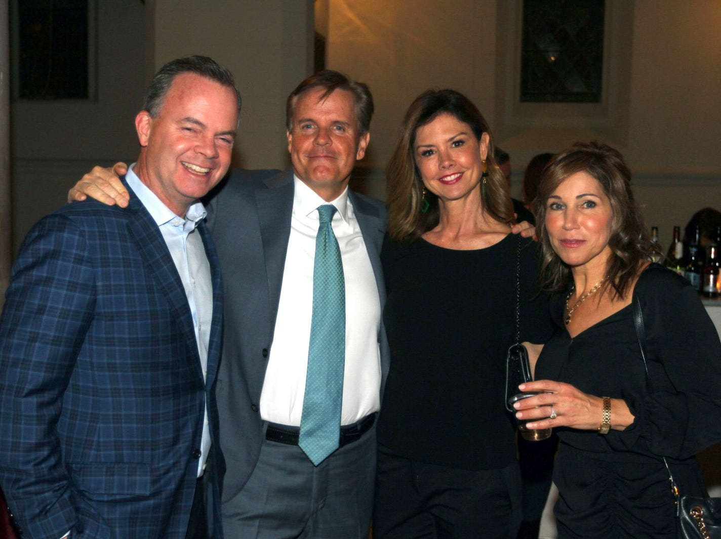 Ray Hopkins; Rob O'Shea; Marci Hopkins; Michele O'Shea. Wyckoff Family YMCA hosted its 75th anniversary gala to celebrate its benefactors, held at the Rio Vista seminary in Mahwah. 11/16/2018