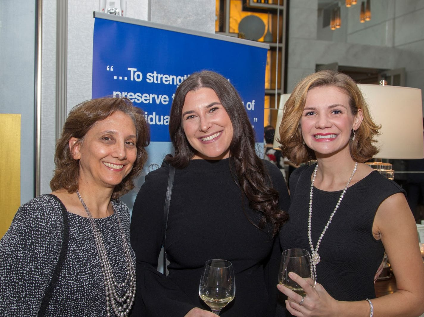 Alice Blass,  Julie Schwartz, Corinne Stackpole. Jewish Family & Children's Services of Northern New Jersey held its annual gala at the Edgewood Country Club in River Vale. The evening honored Shira Feuerstein, Jayne Petak, and Alan Scharfstein for their leadership, support, and dedication. 11/18/2018