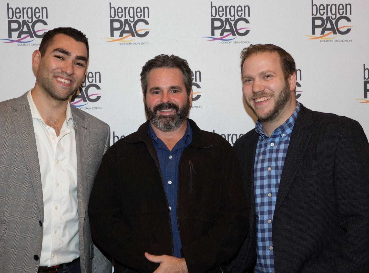 Joel Bruckner, BrianPowell, Josh Abergel. BergenPAC held its annual fall gala featuring John Fogerty in Englewood. This year's honoree was Fernando Garip, from Wilmington Trust and M&T Bank. 11/08/2018