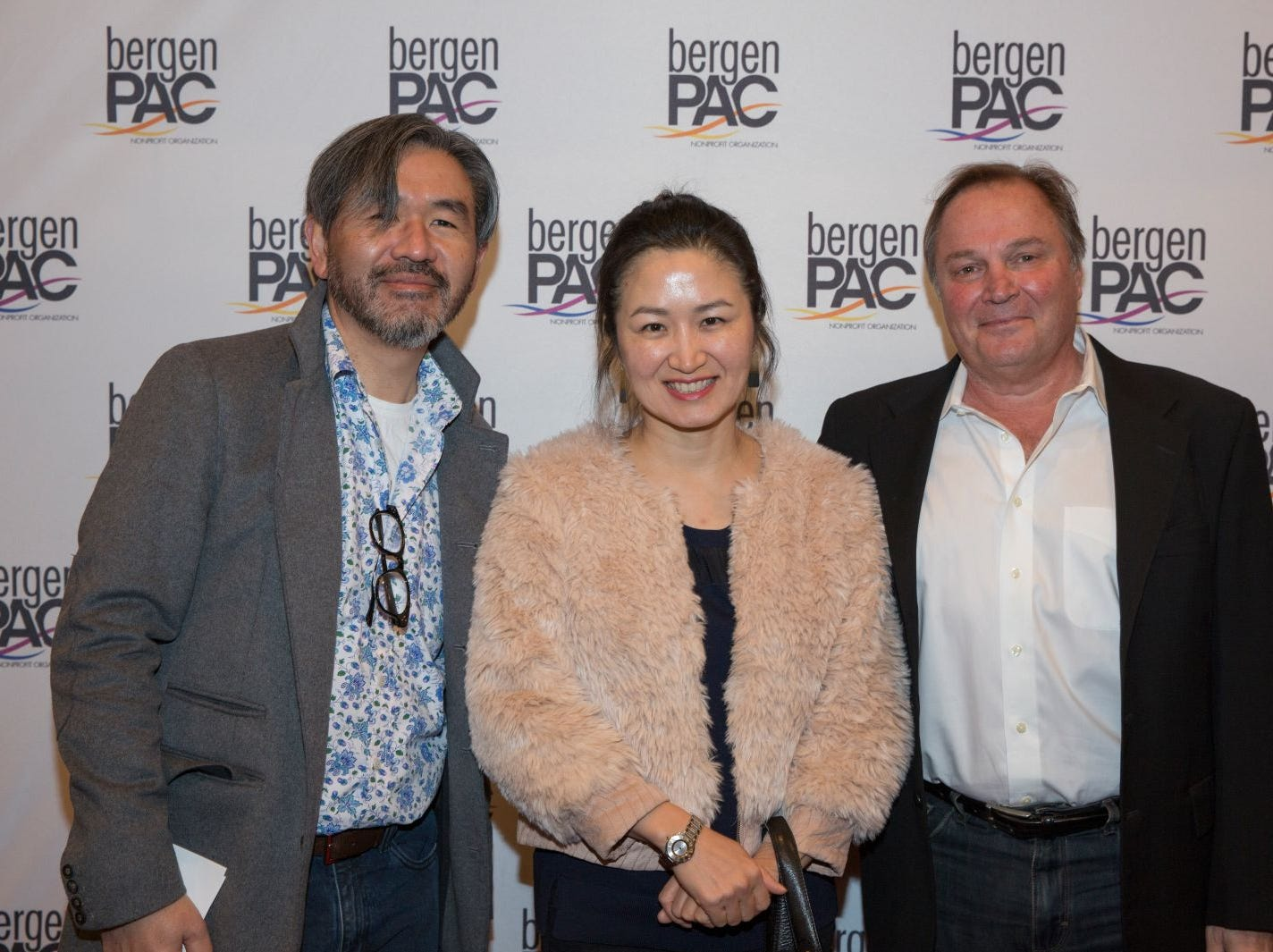Jake Chung, Julie Chang, Dominic Roncace. BergenPAC held its annual fall gala featuring John Fogerty in Englewood. This year's honoree was Fernando Garip, from Wilmington Trust and M&T Bank. 11/08/2018