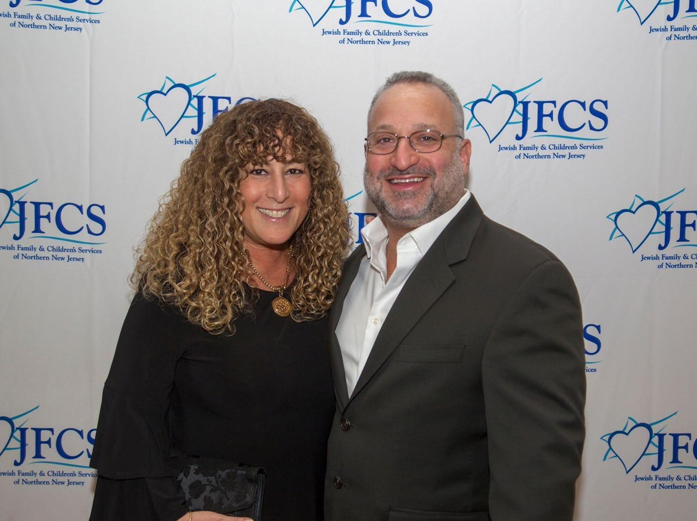 Linda and Brad Ruder. Jewish Family & Children's Services of Northern New Jersey held its annual gala at the Edgewood Country Club in River Vale. The evening honored Shira Feuerstein, Jayne Petak, and Alan Scharfstein for their leadership, support, and dedication. 11/18/2018