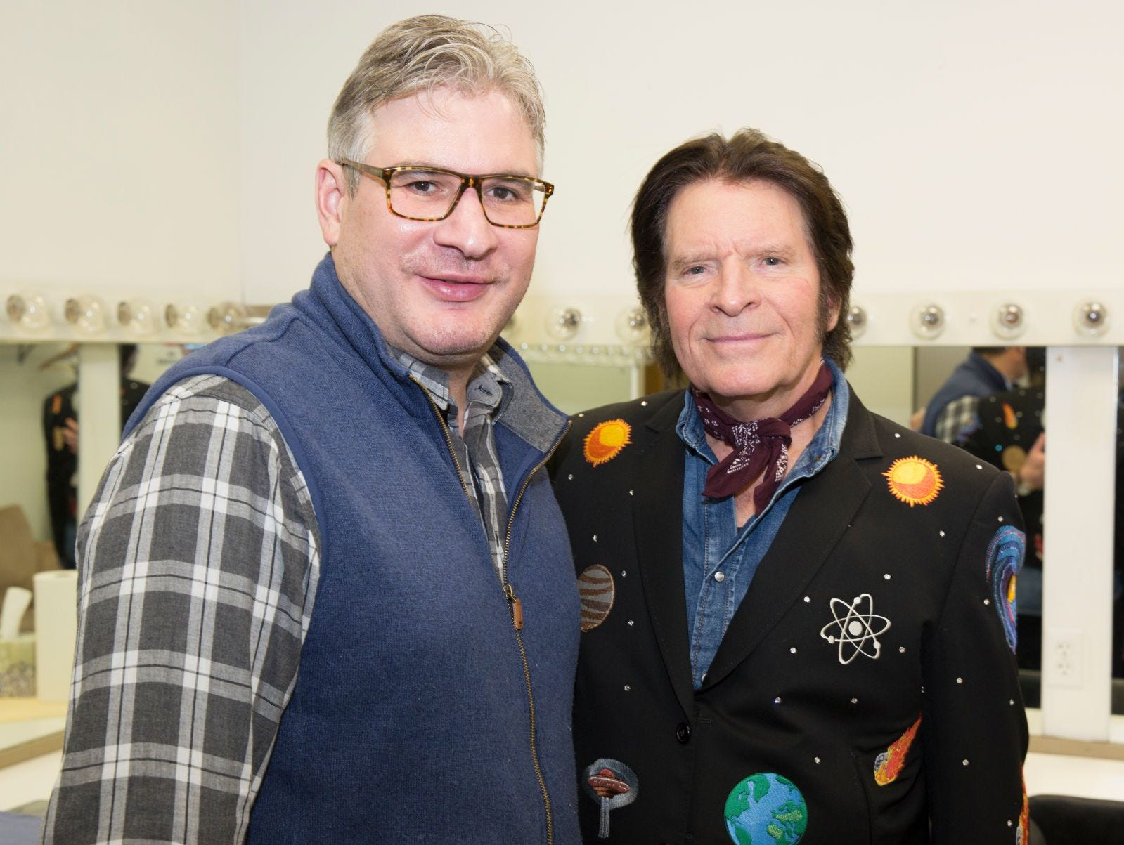 Stephen Borg and John Fogerty. BergenPAC held its annual fall gala featuring John Fogerty in Englewood. This year's honoree was Fernando Garip, from Wilmington Trust and M&T Bank. 11/08/2018