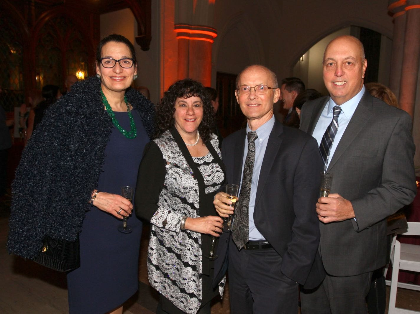 Maureen Bivona; Pearl Hart; Greg Hart; Frank Bivona. Wyckoff Family YMCA hosted its 75th anniversary gala to celebrate its benefactors, held at the Rio Vista seminary in Mahwah. 11/16/2018