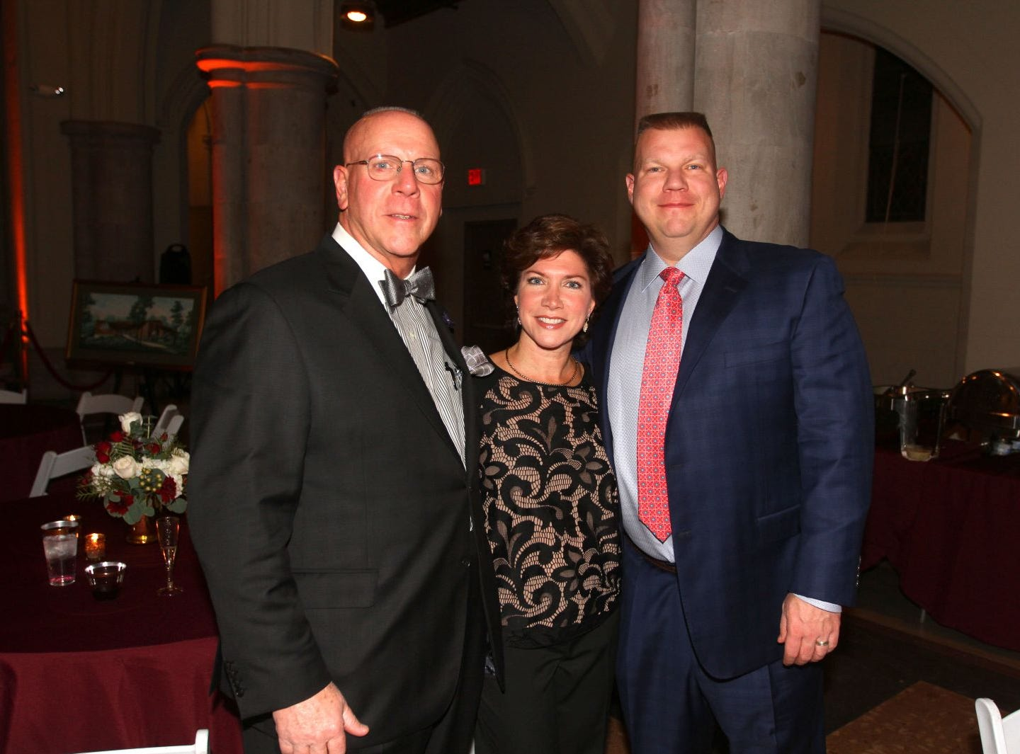 Bill Brock; Lori Brock; Tim Brock. Wyckoff Family YMCA hosted its 75th anniversary gala to celebrate its benefactors, held at the Rio Vista seminary in Mahwah. 11/16/2018