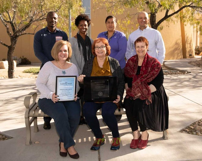 Employees with the city of Las Cruces Office of Management & Budget, including Veronica MacGregor, bottom right.
