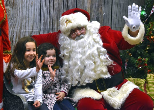Katelyn and Sarah Diewald got a chance to visit with Santa during Olde Fashioned Christmas last year.