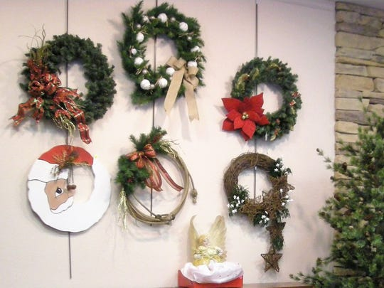 A variety of wreaths will be on sale at the bazaar.