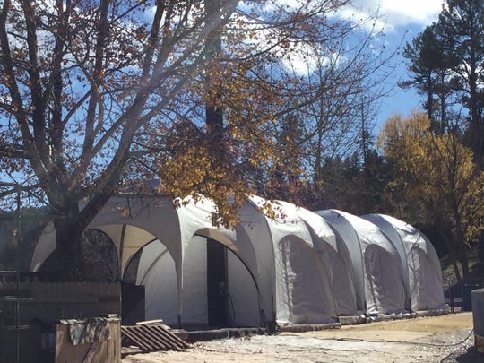Prior to opening day, the igloo tents are set up awaiting guests this season at Ruidoso Winter Park.