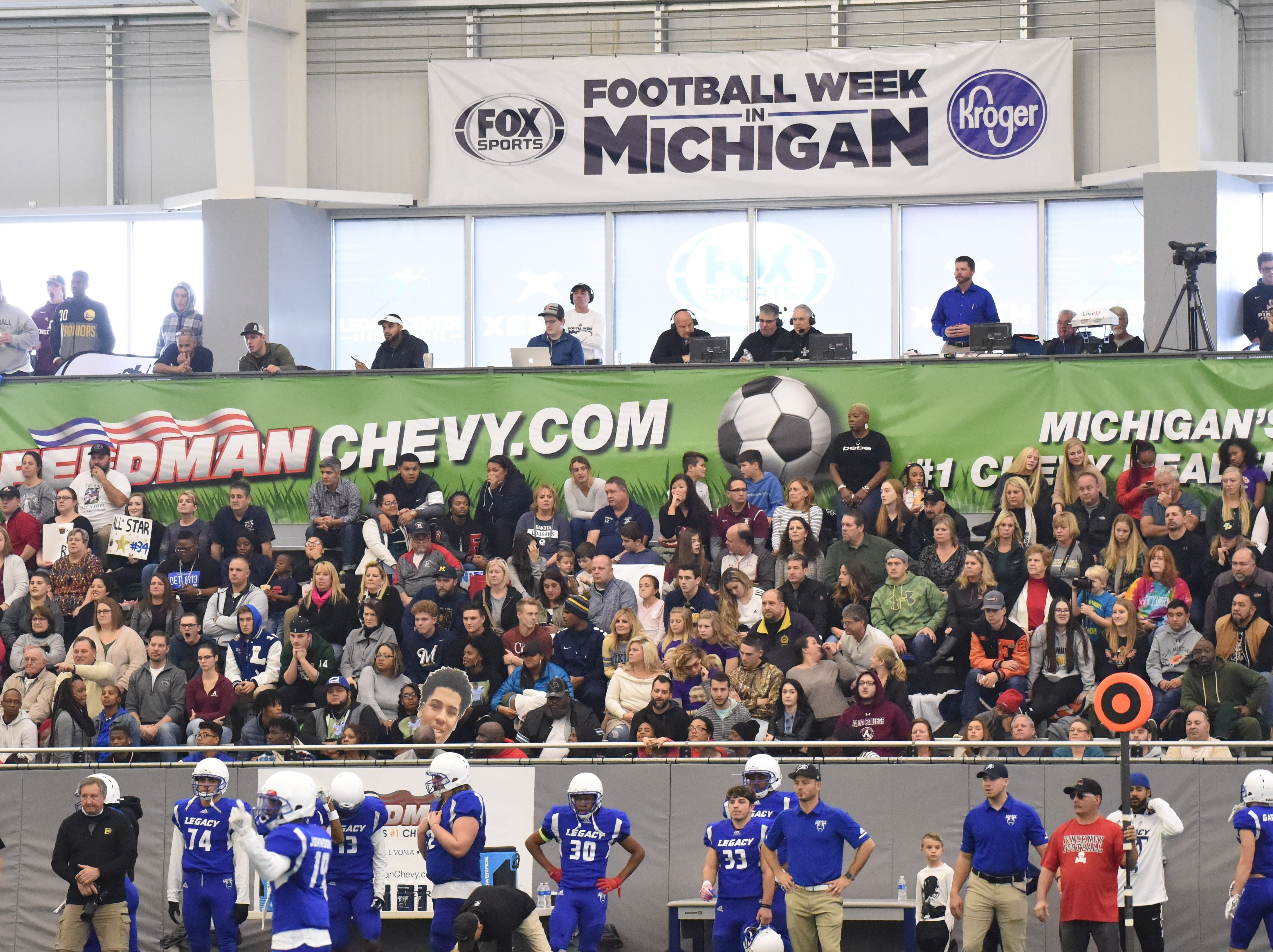 Legacy Center Sports Complex in Brighton was filled with football fans on Sunday afternoon.