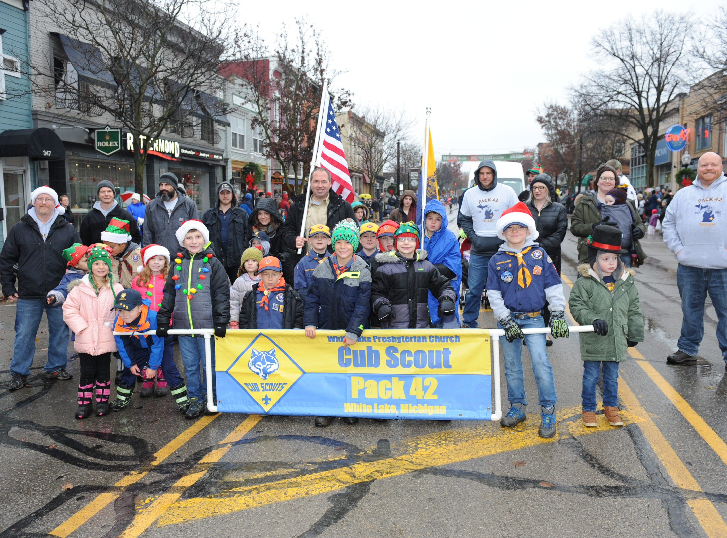 Cub Scout Pack #42 marches in the annual parade held in Milford.