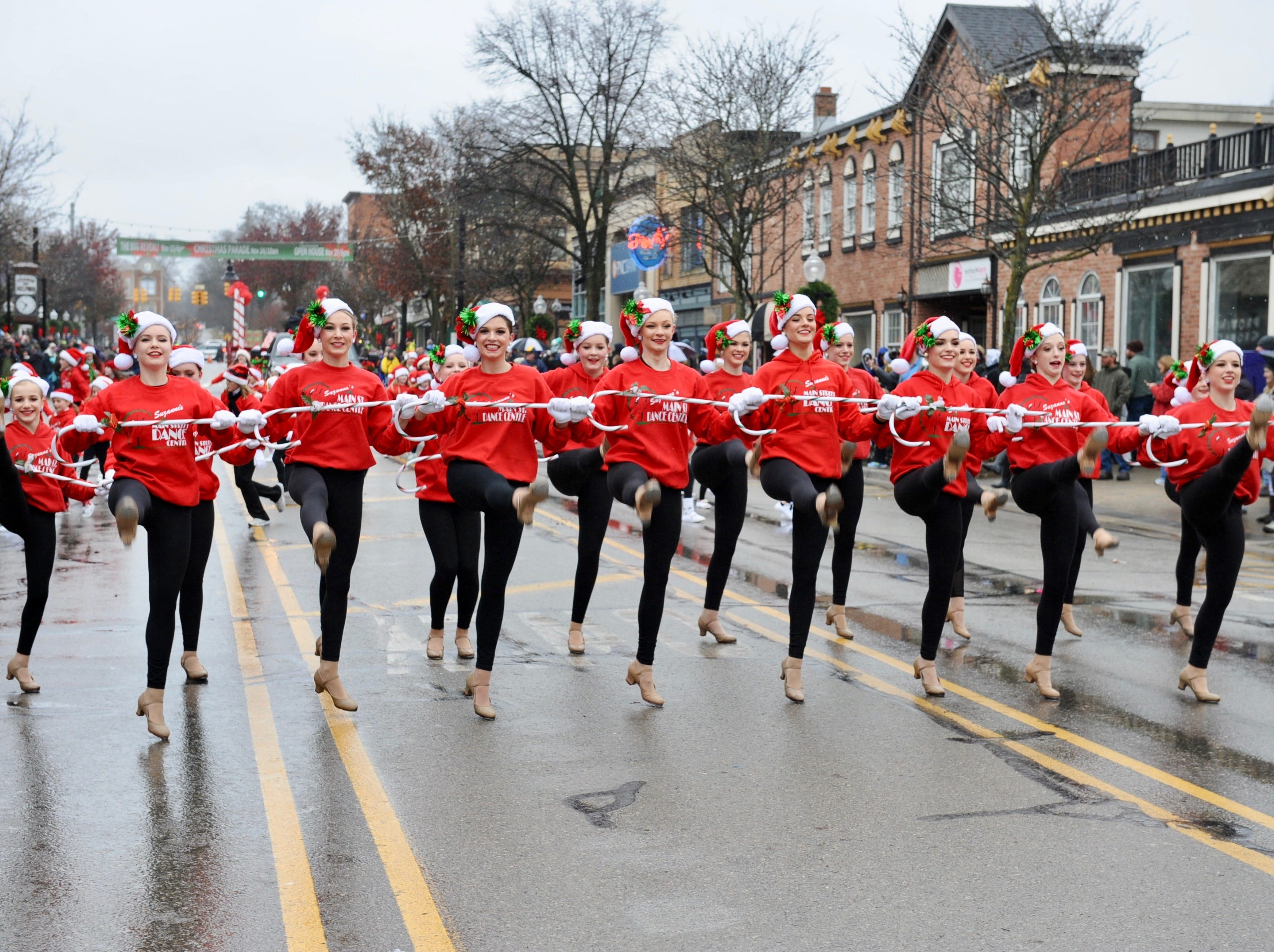 The ladies from Main Street Dance Centre perform during the Milford Christmas parade.