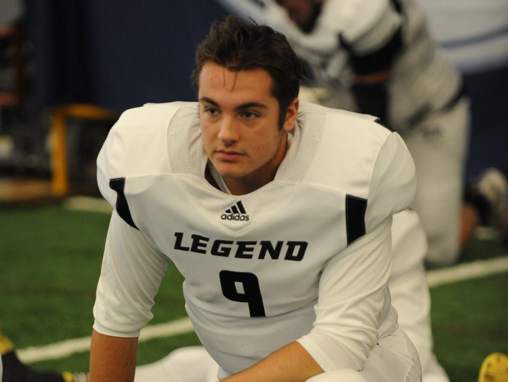 Team Legends quarterback Matt Hornyak, from Howell High School.